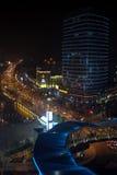 Взгляд ночи здания Стоковая Фотография RF