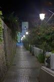 Взгляд ночи малого итальянского городка 4 взморья Стоковая Фотография
