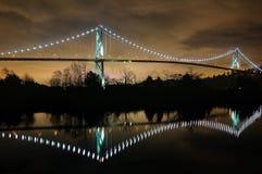 Взгляд ночи моста строба львов стоковые фото