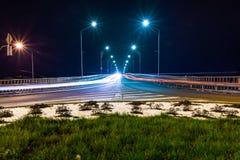 Взгляд ночи моста Стоковые Фото