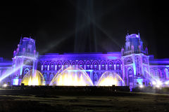 Взгляд ночи музея истории Tsaritsyno дворца в Москве Стоковое Изображение