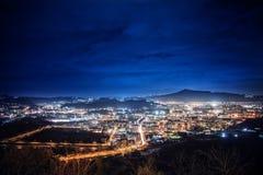 Взгляд ночи Неаполь Стоковые Изображения RF