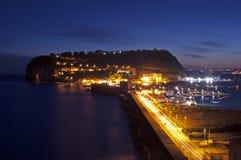 Взгляд ночи острова стоковые фото