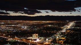 Взгляд ночи от башни стратосферы в Лас-Вегас, Неваде Стоковая Фотография