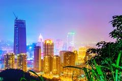 Взгляд ночи района Xinyi финансового Стоковые Изображения RF