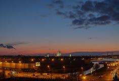 Взгляд ночи Санкт-Петербурга Стоковое Изображение RF