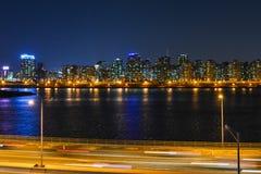 Взгляд ночи Сеула city8 Стоковая Фотография
