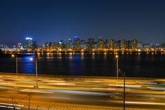Взгляд ночи Сеула city9 Стоковое фото RF