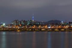 Взгляд ночи Сеула city20 Стоковая Фотография