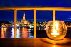 Взгляд ночи с Wat Arun, Бангкоком #2 Стоковое Изображение RF