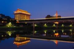 Взгляд ночи Тайбэя Стоковое Изображение RF