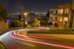 Взгляд ночи улицы ломбарда Стоковая Фотография