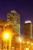 Взгляд ночи центра ночной жизни на Барселоне Стоковое Изображение RF