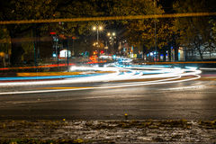 Взгляд ночи шоссе шоссе Великобритании Стоковое фото RF
