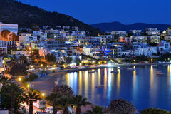 Взгляд ночи Bodrum, Турции Стоковые Фото