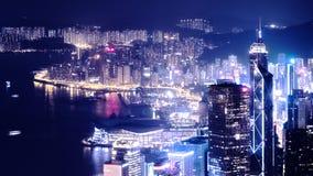 взгляд ночи Hong Kong Стоковые Изображения RF