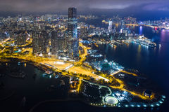 взгляд ночи Hong Kong Стоковое Изображение RF