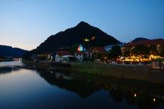Взгляд ночи Laško, Словении стоковое фото rf