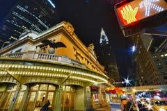 Взгляд ночи New York City Стоковые Изображения RF