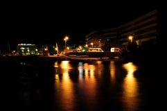 Взгляд ночи Vallecrosia Стоковые Фотографии RF