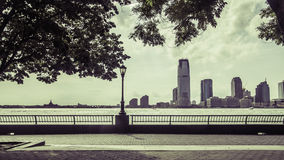 Взгляд Нью-Джерси от парка батареи Стоковые Фотографии RF