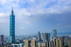 Взгляд дня горизонта Тайбэя Стоковое Изображение RF
