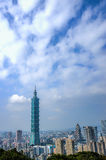 Взгляд дня горизонта Тайбэя Стоковая Фотография RF