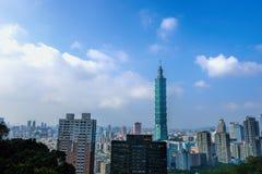 Взгляд дня горизонта Тайбэя Стоковые Фото