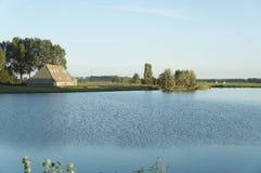 Взгляд обрабатываемой земли в Нидерландах Стоковые Фотографии RF