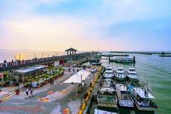 Взгляд области портового района причала ` s рыболова Стоковое фото RF