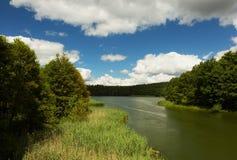 Взгляд озера в лете Стоковые Фото