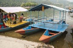 Взгляд озера в Pokhara Стоковое Изображение RF