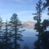 Взгляд озера кратер Стоковые Фото