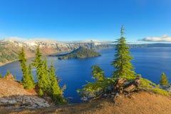 Взгляд озера кратер Стоковые Изображения