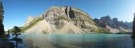 Взгляд озера морен панорамный альбатроса Канада стоковое изображение rf