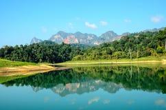 Взгляд озера Cheow Larn Стоковые Фото
