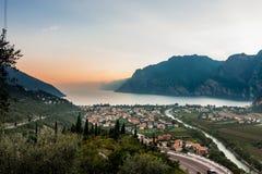 Взгляд озера Garda Стоковая Фотография
