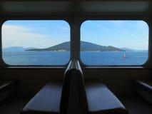 Взгляд окна от парома Стоковое Изображение