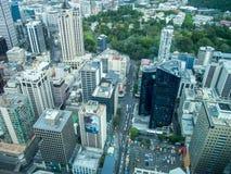 Взгляд Окленда, Новой Зеландии от палубы неба башни неба Стоковое фото RF