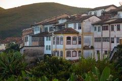 Взгляд дома на холме исторического городка Ouro Preto Стоковое Изображение RF