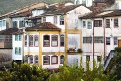 Взгляд дома на холме исторического городка Ouro Preto Стоковые Изображения