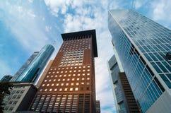Взгляд организаций бизнеса нижний в Франкфурте, Германии Стоковое фото RF