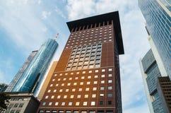 Взгляд организаций бизнеса нижний в Франкфурте, Германии Стоковые Изображения RF