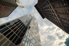Взгляд организаций бизнеса нижний в Франкфурте, Германии Стоковое Фото