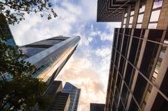 Взгляд организаций бизнеса нижний в Франкфурте, Германии Стоковые Фотографии RF