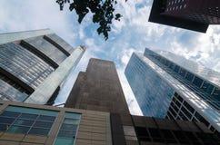 Взгляд организаций бизнеса нижний в Франкфурте, Германии Стоковое Изображение
