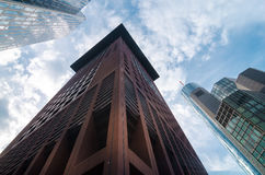 Взгляд организаций бизнеса нижний в Франкфурте, Германии Стоковые Фото