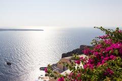 Взгляд ориентир ориентира Santorini Стоковые Изображения