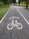 Взгляд дороги велосипеда в парке Стоковые Изображения RF