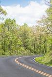 Взгляд дороги в горах в Вирджинии Стоковое Изображение